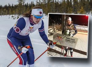 Olivia Hansson är specialist på världens längsta skidtävlingen – 22 mil långa Nordenskiöldsloppet. Arkivfoto/Faksimil Olivia Hanssons Instagram