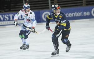 Lukas Mårdberg smällde in Faluns första mål i högsta serien på åtta långa år.