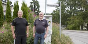 Juhani Aho (till vänster) och Lars Hofgren har råkat ut för flera incidenter i den farliga korsningen.