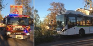 Omkring 20 personer ska ha befunnit sig på bussen.