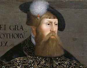 """Sveriges landsfader Gustav Vasa (1494 – 1560) lyckades befria riket och skapa """"nationalstaten Sverige"""" med hjälp av miljoner silverpenningar tillverkade av Salasilver.  Foto: Nationalmuseum Stockholm"""