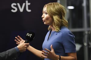 Ebba Busch Thor, KD, under partiledardebatten i söndags.