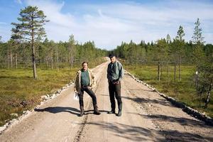 Rolf Lundqvist och Mattias Ahlstedt från Naturskyddsföreningen i Dalarna. Foto: Naturskyddsföreningen i Dalarna.