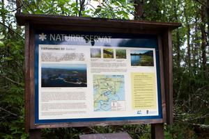 Salen blev länets första marina reservat, där både vatten och land ingår i reservatet.