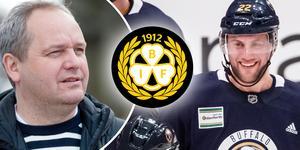 Johan Larsson ryktades vara på väg till Brynäs i somras, ett rykte som det inte fanns någon sanning i berättar han själv. I framtiden kan forwarden dock mycket väl hamna i Brynäs – och han har kontakt med sportchefen Michael Sundlöv.