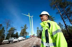 Jan-Olof Dahlin, projektledare på OX2 Wind. Bilden är tagen vid bygget av vindkraftverk på Korpfjället i Vansbro kommun.Bild: Kjell Jansson