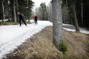 Arkivbild: Rekordmånga valde i år att lösa spårkort på Östersunds skidstadions konstsnöslinga.