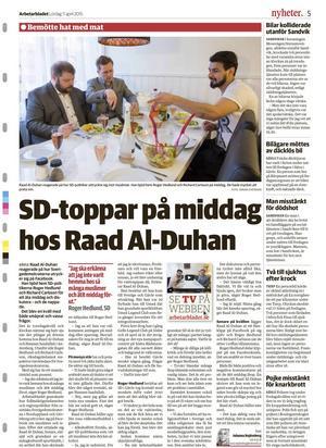 7.       Tröttnade på muslimhat – bjöd SD-politiker på middag