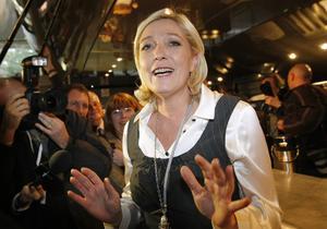 Hotfullt. Franska Nationella frontens nya ledare Marine Le Pen har fått ökat stöd i opinionsmätningar och regionala val.foto: scanpix