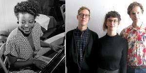 Jazzlegenden Mary Lou Williamson hyllas och en trio bestående av pianisten Isabel Gustavsson-Ny, slagverkaren Konrad Agnas och basisten Vilhelm Bromander medverkar under den kommande musikhelgen i Gagnefs kyrka. Foto: Privat