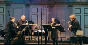 Stockholms Saxofonkvartett uppstod ur Svea Livgardes musikkår. Foto: Christopher Hästbacka