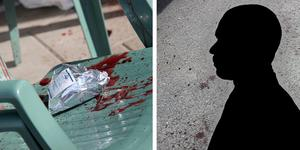 Den knivhuggne mannen lyckades ta sig till en altan i närheten för att få hjälp.