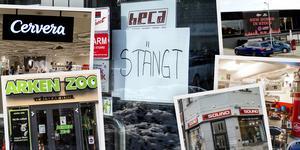 Det var en del butiker och verksamheter som var tvungna att stänga för gott i fjol – här är listan. Montage: Robin Brinck