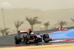 2012: GP2 i Bahrain på International Circuit, Sakhir under en tidsträning. Arkivfoto: Glenn Dunbar