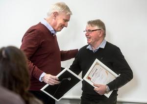 Arvid Callans på Callans Trä AB eller Arne Vikholm, Fränsta Trafikskola är två som har chansen till att bli Årets trotjänare.