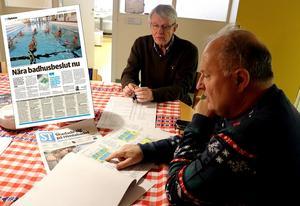 I början av året träffade ST Stefan Wallsten och kommunalråd Sten-Ove Danielsson (S) som berättade och visade de ritningar som finns för badhuset i Fränsta.
