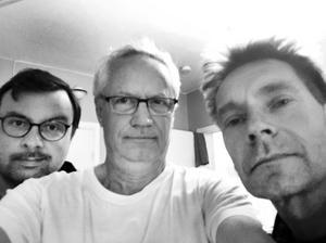Ronnie Svenblad, Thomas Fahlander och Staffan Lindfors spelar på torsdag. Foto: Privat.