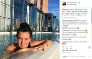 Sofia Wistam var på hotellet med sonen.