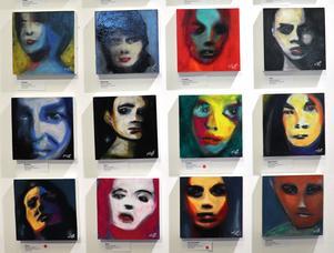 Några av porträtten som speglar olika stämningslägen.