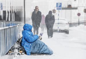 Sverigedemokraterna i Rättvik vill införa tillståndsplikt för tiggeri. Foto: Lars Pehrson / SvD / TT