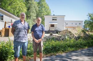 Anders Malm och Staffan Grossby hoppas att huset återställs till en villa bland andra i det gamla 1920-talskvarteret.
