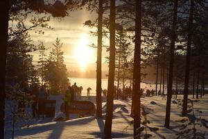 Soluppgång före Smågan.