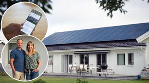 Ronny Eriksson och Renée Hovdeby skaffade solenergi till huset i nedre Torvalla redan 2017.