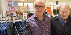 Mats och Bert Eriksson. Nu stänger Borås Klädmarknad.