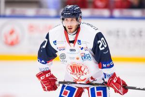 Kevin Schulze har snittat en halv poäng per match i Västervik. Plus/minus-siffran är inte lika smickrande, med –15 var han sämst i Västervik. Foto: Tobias Sterner/Bildbyrån