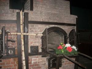 En av ugnarna där judarna brändes under Andra världskriget. Foto: Eva Hansson.