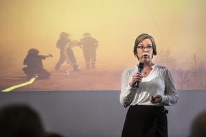 Operativ chef, Britta Ramberg, myndigheten för samhälsskydd och beredskap berättade om MSB:s roll och det nationella perspektivet på brandbekämpningen.