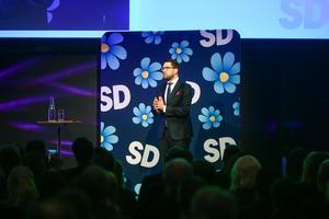 Den flitige debattören Ulf Hedman tycker att Jimmie Åkesson har ett rakt budskap och lägger sin röst på SD.Foto: TT