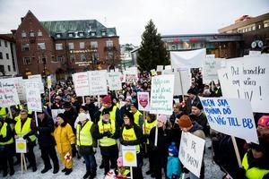 Katarina Hägg är ordförande i Örnsköldsvik framtidens akutsjukhus och har stått i spetsen för manifestationerna. Arkivbild