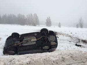 En bilist voltade på E45 i Orsa under fredagen.