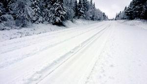Snödjupet var 12 centimeter men plogbilen kom först efter klockan tio får tisdagsförmiddagen.