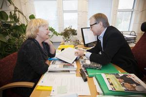 Marie-Louise Dangardt, S, var kommunalråd och Ulf Strömstedt var kommunchef när beslutet togs om att låna åtta miljoner kronor till bowlingklubben. Bild: Arkiv