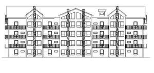Max fem våningar tillåts i den här typen av hus , som blir aktuella att bygga i Sadelbyn etapp 5 och 6. Illustration ur planbeskrivning