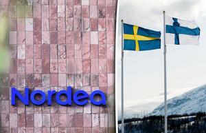 Debatten kring flytten av Nordeas huvudkontor till Finland har mest handlat om förlusterna för Sverige. Mats Lönnerblad och Ulf Sandmark ser det som att ett stort ansvar nu lyfts från de svenska skattebetalarna – men menar också att risken måste begränsas på annat sätt än att bankerna flyr landet. Bild: Henrik Montgomery/TT / Alexander Larsson Vierth/TT