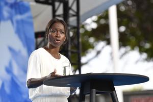 Medlemsomröstningarna i Liberalerna gjorde det omöjligt att välja någon annan än Nyamko Sabuni som ny partiledare.  Foto: Henrik Montgomery / TT