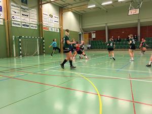 Alftas försvar stod emot Uppsala bra, men höll inte riktigt hela vägen mot det mer rutinerade HK Uppsala. Bild: Malin Eriksson