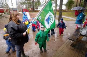 Arkivbild från 2000 när Gamla bergets förskola fick miljöcertifiering. Foto: Kjell Jansson.