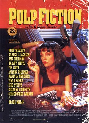 En ikonisk bild från 1990-talet. Uma Thurman pryder affischen till Quentin Tarantinos mästerverk