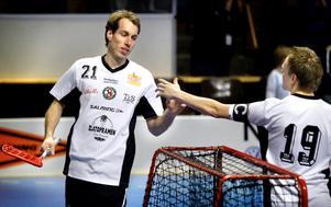 Andreas Wahman i ÖSK-tröjan under en uppvisningsmatch mot AIK.