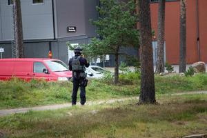 Polisen tog hjälp av insatsstyrkan när man på lördagseftermiddagen slog till mot ett lägenhetshus i Gavlehov.