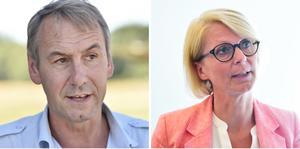 Riksdagsledamoten Sten Bergheden och ekonomisk-politiske talespersonen Elisabeth Svantesson (M)- Foto: Janne Andersson/Henrik Montgomery / TT