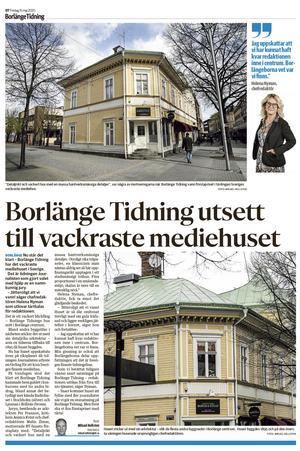 Borlänge Tidnings baksida samma dag.