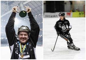 Magnus Muhrén lyfter bucklan 2014, för Albin Airisniemi väntar första SM-finalen. FOTO: TT & ANDREAS TAGG