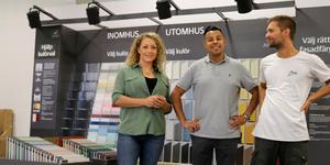 Pernilla Törnevad, Sebastian Rydberg och Simon Jansson ska tillsammans driva den nya färghandeln Ikulör. De vill erbjuda personlig service och bra produkter.