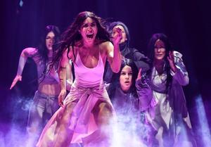 Loreen floppar i Melodifestivalen i mars. Arkivbild.