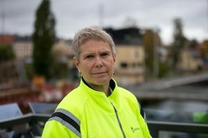 """Mälarprojektet är invecklat. """"Det handlar om de två stora betonglådorna, slussgroparna, och i andra hand att vi säkrar upp kanalkanterna"""", säger Ulrika Hamberg."""